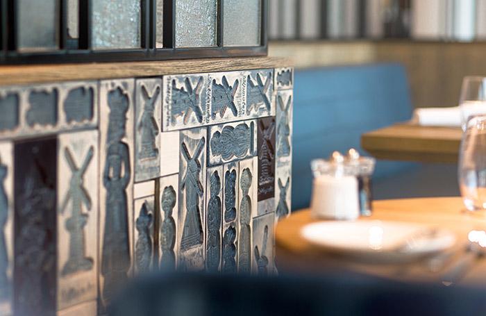Bowery Restaurant bevat uniek design elementen